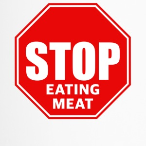 stop eating meat - Thermobecher
