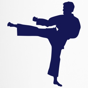 Karate Kämpfer Silhouette 7 - Thermobecher