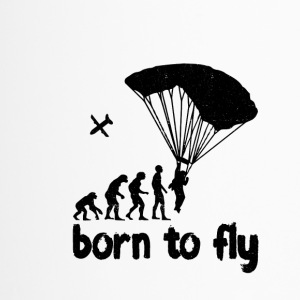 Evolution Skydiving - born to fly - Thermobecher