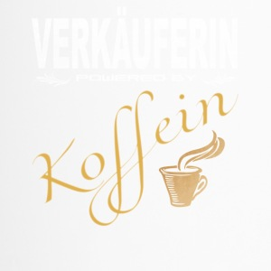 Verkäuferin powered by Koffein - Thermobecher