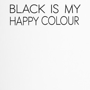 black_is_my_happy_color - Travel Mug