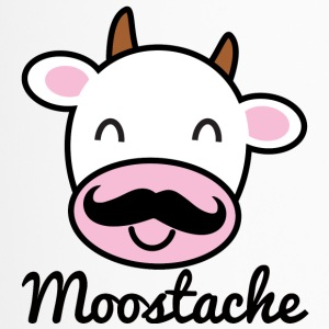 Cow / farm: Moostache - Travel Mug