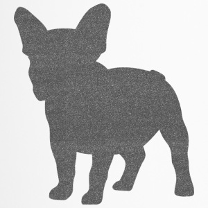 Frenchie French bulldogg Glitter optik - Termosmugg