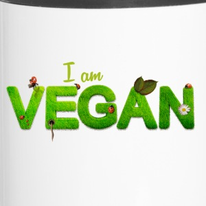 I am vegan - Tazza termica