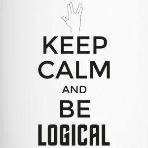 Keep Calm and be logical (dunkel) - Thermobecher