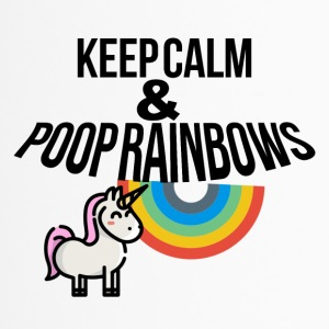 Keep calm and poop rainbows - Thermobecher