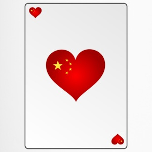 Speelkaart aas van harten Heart China - Thermo mok