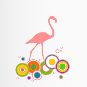 Flamingo bunte Ringe - Thermobecher