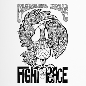 Vintage artwork Americans Arise Fight for Peace - Travel Mug