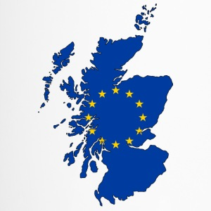Scotland Map with EU Flag - Thermobecher
