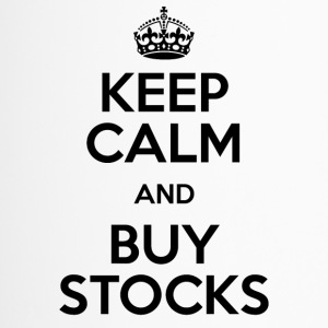KEEP CALM AND BUY STOCKS - Thermobecher