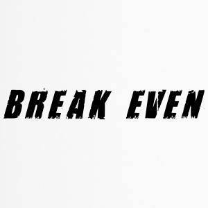 Break-even-Schwarzer Text - Thermobecher