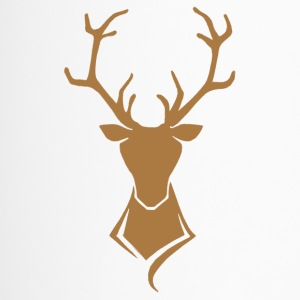 Deer logo brown / gold - Travel Mug