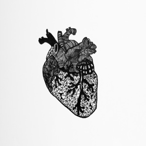 Cuore, anatomia, Zentangle - Tazza termica