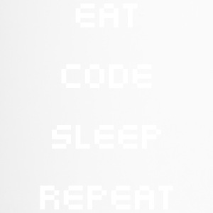 Eat Sleep Repeat-Code - Thermobecher