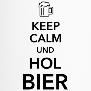 Keep calm und hol Bier Bierkasten Grillparty Wiesn - Thermobecher