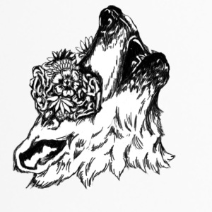 floral Wolf - Thermobecher