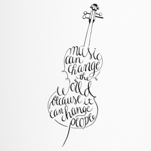Cello calligraphy - Travel Mug