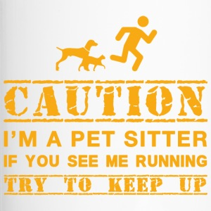 Warning: dog sitter - Travel Mug