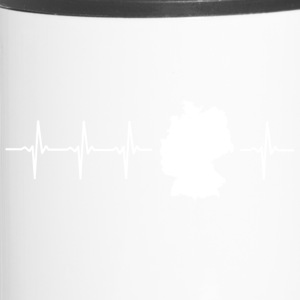 Germany, heartbeat design (I love Germany magnif) - Travel Mug