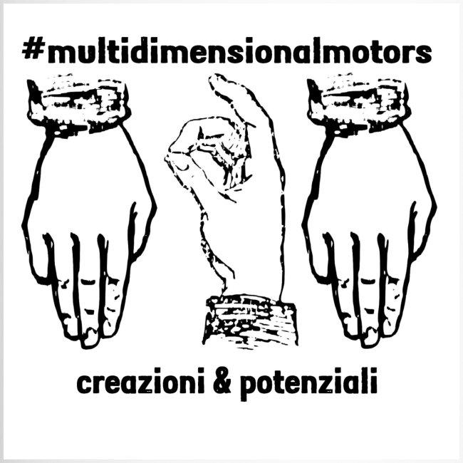 logo #MultiDimensionalMotors con segni italiani