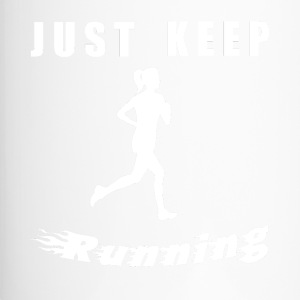 Il suffit de garder RUNNING - Mug thermos