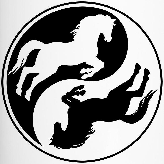 Vorschau: Horse Ying Yang - Thermobecher mit Tragegriff