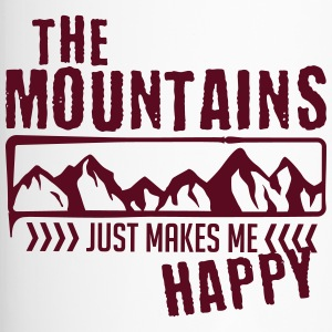 Mountains make happy - berg - Thermobecher