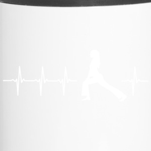 I love yoga (yoga heartbeat) - Travel Mug