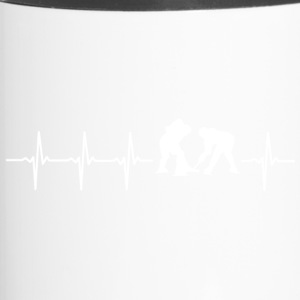 I love hockey (ice hockey heartbeat) - Travel Mug