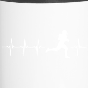 I love American Football (American Football) - Travel Mug