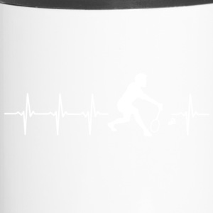 I love Badminton (Badminton heartbeat) - Travel Mug