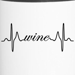 Wine heartbeat ECG - Travel Mug