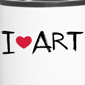 I love Art - Thermobecher