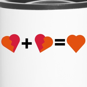 Love - Two broken hearts - Travel Mug