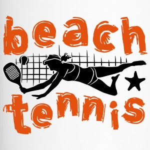 beach tennis meisje - Thermo mok