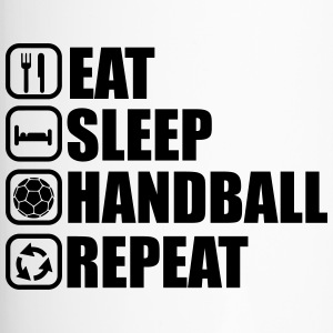 Eat sleep handball repeat - Travel Mug