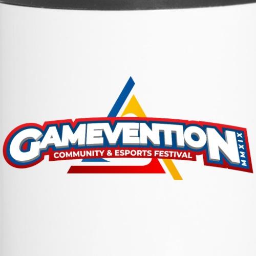 Logo GAMEVENTION MMXIX (Rechtshänder) - Thermobecher