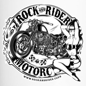 rock_and_rider_motorcycle_BW - Taza termo