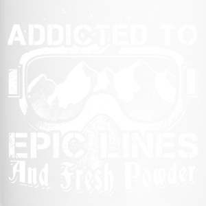 Addicted to skiing - Travel Mug
