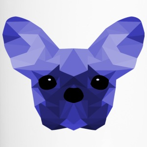 French Bulldog Low Poly Ontwerp blauwe - Thermo mok