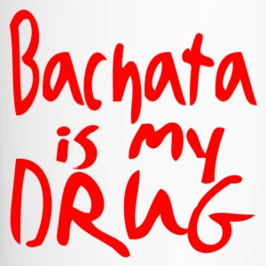 Bachata is my Drug red - Dance Shirts - Thermobecher