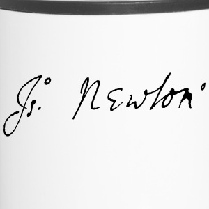Isaac Newton signature - Thermobecher