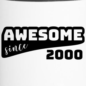 Awesome sinds 2000 / Birthday-shirt - Thermo mok