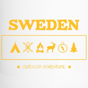 Sweden Outdoor Adventure Symbols - Travel Mug