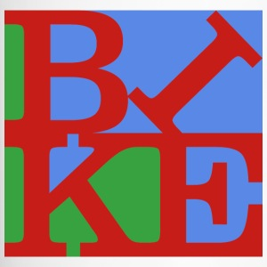Bike, Homage to Robert Indiana, colored x - Travel Mug