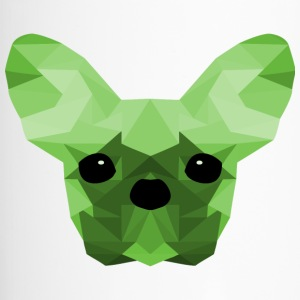 French Bulldog Low Poly Ontwerp groen - Thermo mok