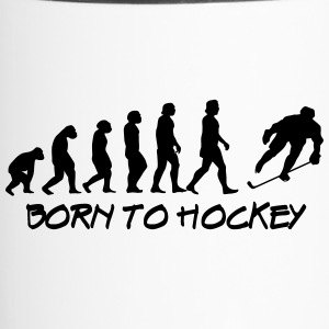 born to hockey - Travel Mug