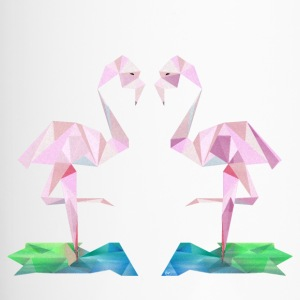 Low-Poly-Flamingo - Thermobecher