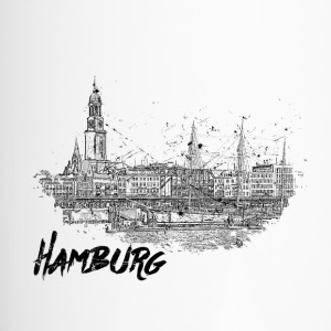 Hamburg city sketch - Travel Mug